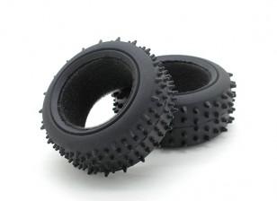 GPM Racing Kyosho Mini Inferno F/R Radial Tire w/Insert (30g) (Offroad) (1pr)