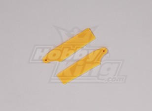 450 Size Heli Yellow Plastic Tail Blade (pair)