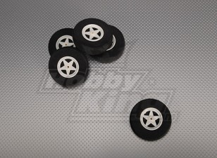 5 Spoke Wheels Shock Absorbing D65xH18mm (5pcs/bag)