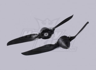 Folding Propeller W/Hub 45mm/4.0mm Shaft 10x8 (2pcs)