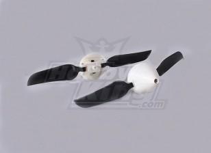 Folding Propeller W/Hub 18mm/2mm Shaft 4.5x3 (2pcs)