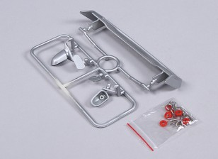 1/10 Wing and Mirrors with Clips (Silver)