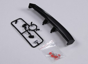 1/10 Wing and Mirrors with Clips (Black)