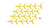 Kingkong Fly Egg 130 Racing Drone 2840 Propellers Yellow CW/CCW (10 pairs)