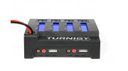 Turnigy Quad 4x6S Lithium Polymer Charger 400W DC Only - right