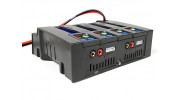 Turnigy Quad 4x6S Lithium Polymer Charger 400W DC Only - left