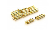 4mm Easy Solder Male/Female Gold Plated Connectors (10 pairs)