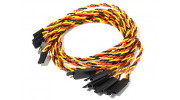 450mm Twisted Servo Lead Extension (JR) with Hook 22AWG (5pcs/bag)