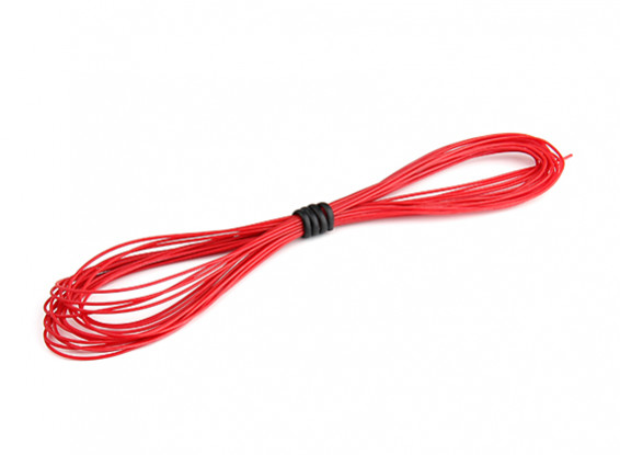 Turnigy High Quality 30AWG Silicone Wire 5m (Red)
