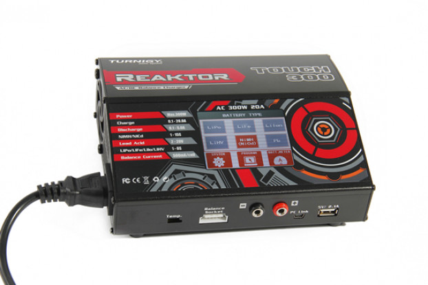 Turnigy Reaktor Touch 300 AC/DC 20A 1~6S 300W Touch Screen Balance Charger (UK Plug) 1