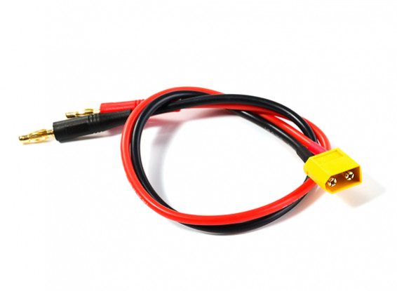 XT60 Male to 4mm Banana Plug Charge Lead