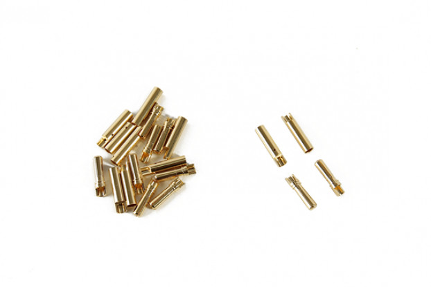 4mm PolyMax Gold Plated Solder Type Battery/Motor Connectors (10 pairs)