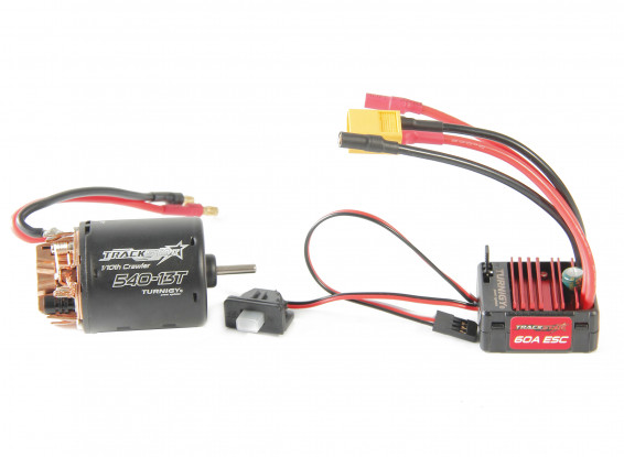 Trackstar 540-16T Brushed Motor & 60A ESC Combo for 1/10th Crawler 1