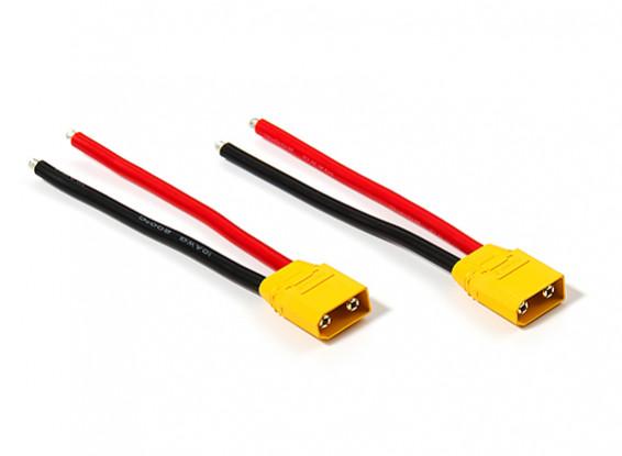 XT90 Plug Male 10AWG 10cm Tail (2 stuks / zak)