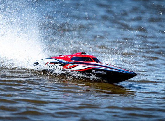 HydroPro Inception Brushless RTR Deep Vee Racing Boat 950mm (Red/Black) 2