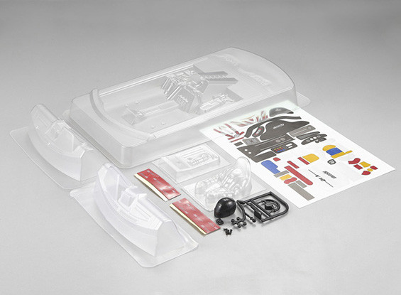MatrixLine Polycarbonaat Rear-engine Cockpit Kit for 1/10 Touring Cars
