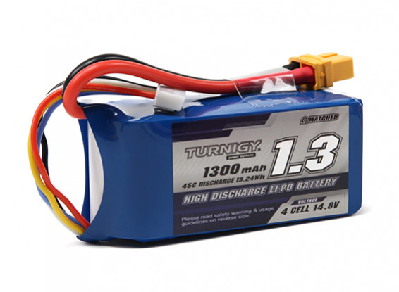 Pack Turnigy 1300mAh 4S 45C Lipo