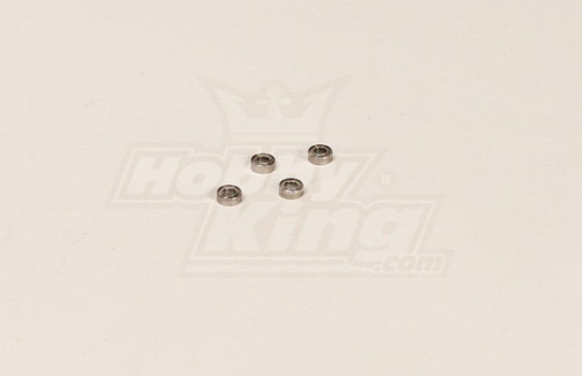 GT450PRO Bearing (7.98x2.98x3.95mm) 4 stuks