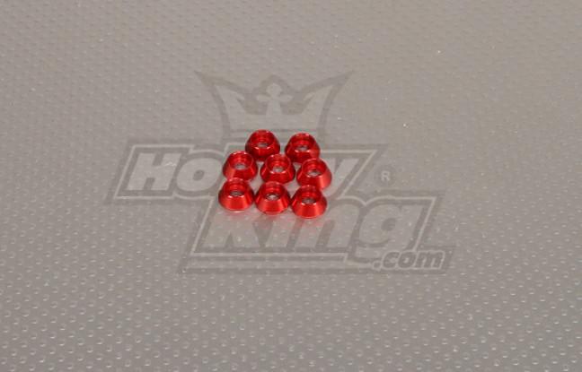 CNC Cap Bolt Washer M4 (4.5mm) Rood