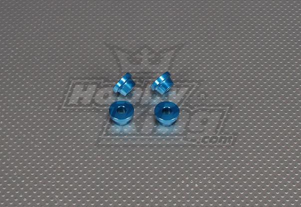 CNC Inch Standoff 10mm (M6,1 / 4 20) Blue