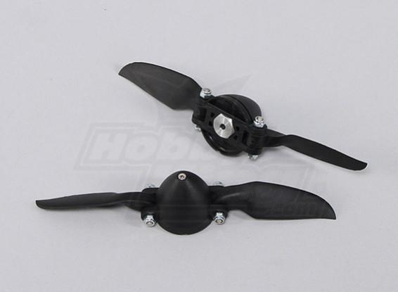Folding Propeller W / Hub 35mm / 3mm 6x6 (2 stuks)