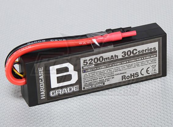 B-Grade 5200mAh 2S 30C Hardcase LiPoly Battery