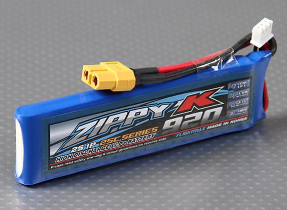 Zippy-K Flightmax 920mAh 25C 2S1P LiPoly Battery