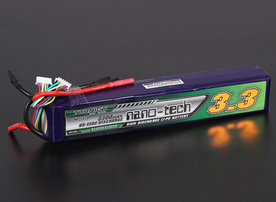 Turnigy nano-tech 3300mAh 10S 65 ~ 130C Pack Lipo