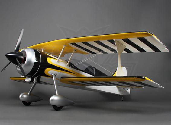 Pitts 12 EPO 1600mm w / borstelloze motor en servo's (ARF) (geel / zwart)
