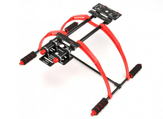 Lichtgewicht FPV Multifunctionele 200mm High Landing Gear Set voor multi-rotoren (zwart)