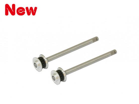 Gaui 100 & 200 MD500 Conversion Shaft met 16T CNC pulley (voor Scale lichamen)
