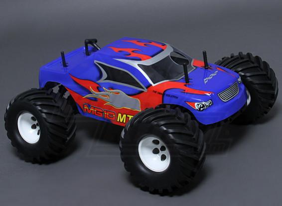 10/01 MG10 MT3 4WD 0,18 Nitro Monster Truck - Blauw (ARR)