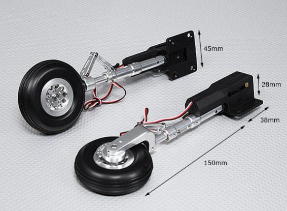 90 graden Electric Retract met metalen Trunnion, Lichtmetalen Oleo Leg & Alloy Wheel (2pc)