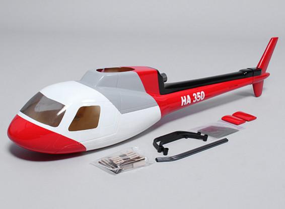 AS350 Glasvezel romp voor 450 size heli