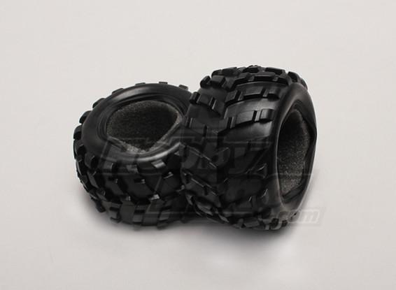 Banden w / Foam inzetstukken (2 stuks / zak) - 1/18 4WD RTR Short Course Truck