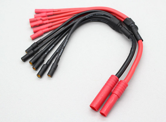 HXT 4mm tot 6 x 3,5 mm kogel Multistar ESC Macht Breakout Cable