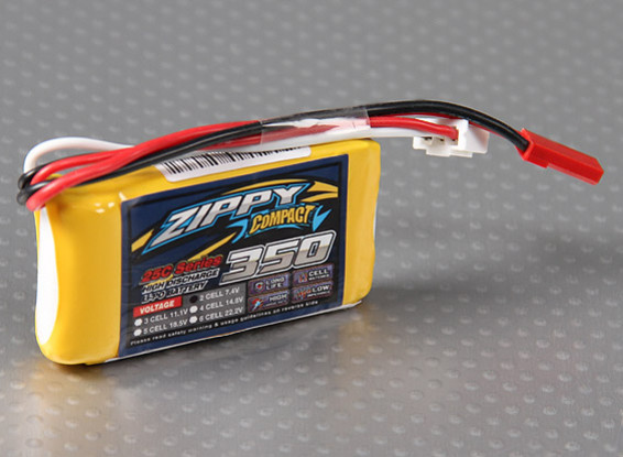 Pack ZIPPY Compact 350mAh 2S 25C Lipo
