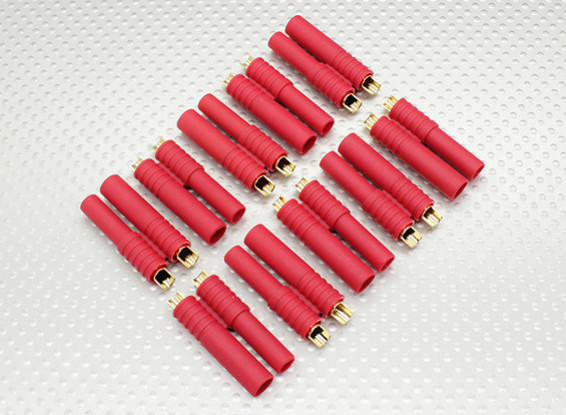 HXT 4mm Goud Connector w / Pre-geïnstalleerde Bullets (10st / set)