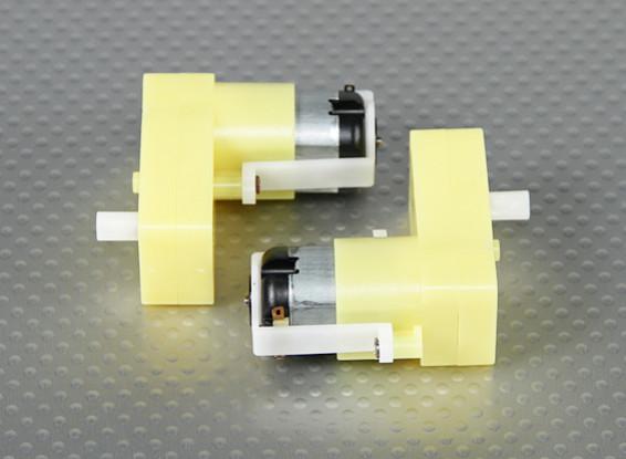 Geared Motor - Offset Shaft (2 stuks / Bag)