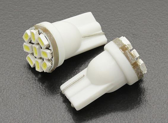 LED Corn Light 12V 1.35W (9 LED) - White (2 stuks)