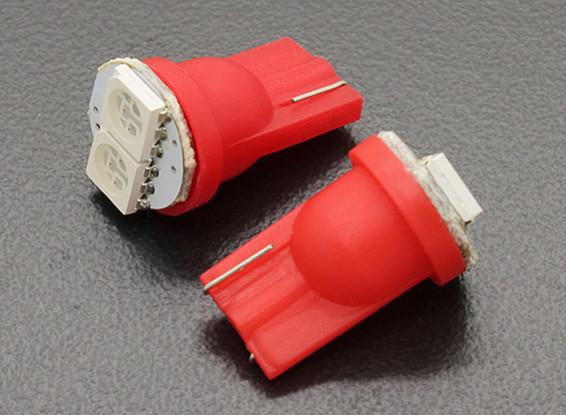 LED Corn Light 12V 0.4W (2 LED) - Rood (2 stuks)