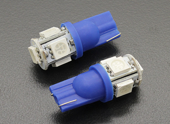 LED Corn Light 12V 1.0W (5 LED) - Blauw (2 stuks)