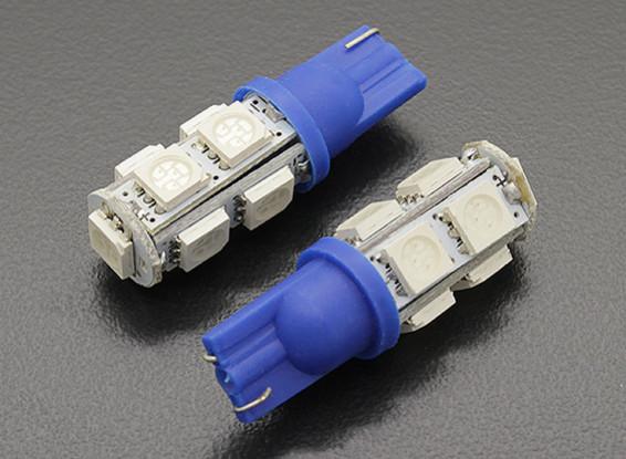 LED Corn Light 12V 1.8W (9 LED) - Blauw (2 stuks)