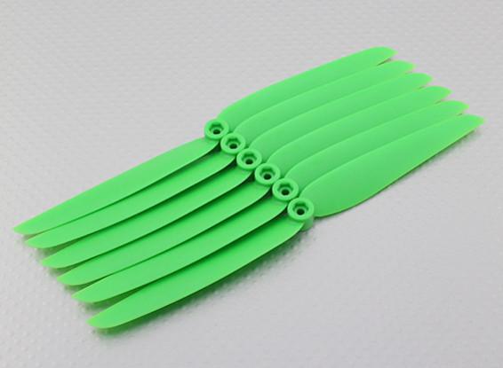 GWS Style Propeller 7x3.5 Green (CCW) (6 stuks)