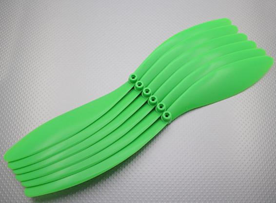 GWS Style Propeller 14x10 Green (CCW) (6 stuks)