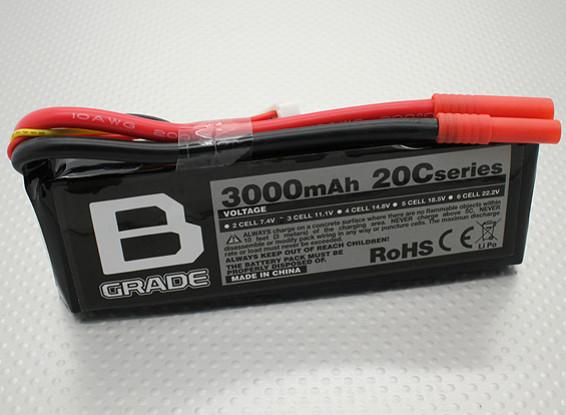 B-Grade 3000mAh 3S 20C LiPoly Battery