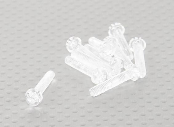 Doorzichtig polycarbonaat schroeven M4x20mm - 10st / bag
