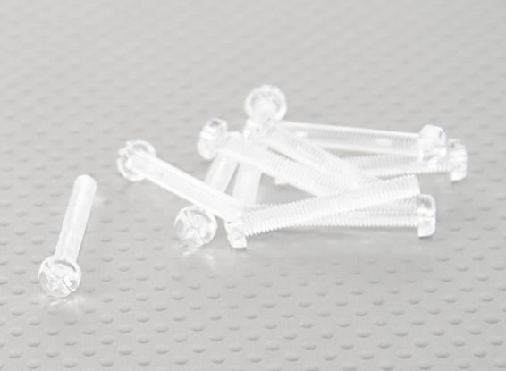 Doorzichtig polycarbonaat schroeven M4x30mm - 10st / bag