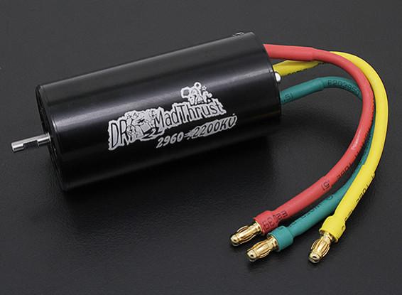 Dr Mad Thrust 2200kv 1600W 70mm EDF Inrunner 6S versie (29mm)