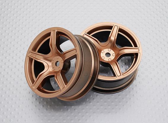 01:10 Scale High Quality Touring / Drift Wheels RC Car 12mm Hex (2pc) CR-C63G